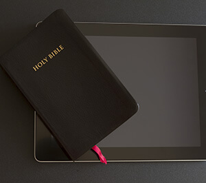 Bible on tablet